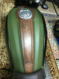 Ducati scrambler leather tank belt Cafe Racer and Scrambler. COD ducati