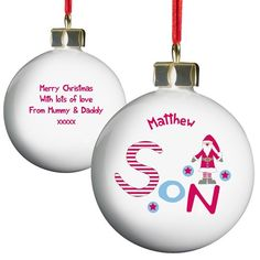 Personalised Christmas Bauble - Son  from Personalised Gifts Shop - ONLY £9.99