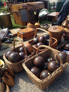 Anyone for boules? at Newark antique fair 2015.   www.iacf.co.uk