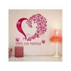 Wall stickers   Flower in Heart  shaped -seinätarra