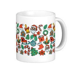 Hand Drawn #Christmas Pattern Mug