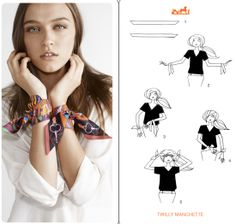 Hermes cards,how to tie a scarf, Hermes scarf styling ideas, more on Fashioned by Love