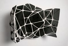 "design-sprawl: "" An Unkown Known by artist Graham Caldwell, "" Bühnen Design, Form Design, Le Manoosh, Sculpture Art, Sculptures, Impression Textile, Paper Architecture, 3d Prints, Geometric Lines"