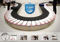Plaque is hidden between your teeth. Oral-B Airport Luggage Delivery Belt Ad