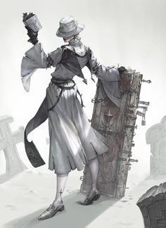 by Hayun Lee cleric death cleric Character Costumes, Character Art, Character Inspiration, Fantasy Inspiration, Character Concept, Fantasy Characters, Dnd Characters, Design Reference, Character Illustration
