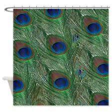 Peacock Design Shower Curtain