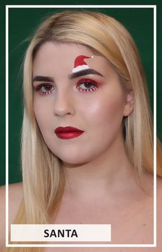Check out how to create this #Santa #Holiday #MakeupLook !