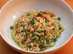 Dinner Tonight: Pasta with Salmon, Peas, and Pesto Recipe | Serious Eats