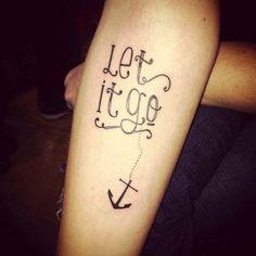 quote anchor tattoo çapalı yazı dövmesi