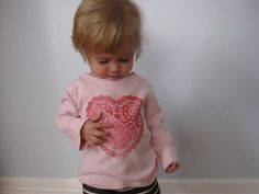 heart doily t-shirt/ great way to cover up a stained shirt!