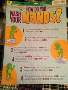 """Wash Hands"" & ""Brush Teeth"" 2 Set Educational Charts Great Teacher's Resource 
