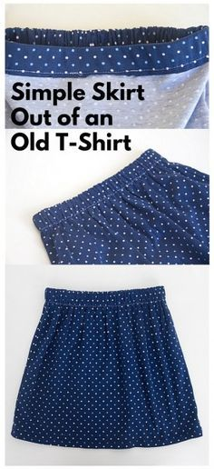 Simple Skirt Out of an Old T-Shirt: For this project, all you'll need is an old t-shirt, some one inch elastic, and matching thread. The bigger the shirt is, the fuller your skirt will be.