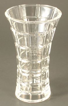 Cristal D'Arques Small Vase in the Tartan Pattern Good Choice for a Small Space by JohnGermaine on Etsy