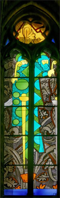 Saint Paul: Jean-Michel Alberola - Dominique Duchemin (master glass artist) - Saint-Cyr Cathedral and St. Julitta of Nevers, France