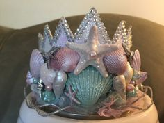Mermaid Crown Birthday Crown Sea Queen Crown Mermaid by PoshPippi