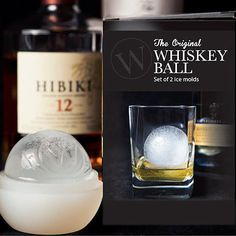 The Whiskey Ball is an ice ball mold that makes jumbo, slow melting ice spheres to cool your drink without watering it down.Invented by avid scotch-whiskey drinkers, The Whiskey Ball has more volume and less surface area than a traditional ice cube- so they melt slower. Now, you can bring the artesian science of slow-melting ice spheres to your home without any complicated or expensive machinery. Incredibly easy to use, just add water, and freeze to add sophistication to any drink.
