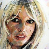 Brigitte Bardot by Pascal Vilcollet Art Works, Abstract Face Art, Goddess Sculpture, Artist, Woman Painting, Portrait Painting, Face Drawing, Figurative Art, Pop Art