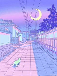 How Japan Inspired Me To Create My Own Pastel Wonderland I& Denise (surudenise) and I am an Artist/Illustrator based in Germany and Japan. Wallpaper Pastel, Aesthetic Pastel Wallpaper, Kawaii Wallpaper, Aesthetic Wallpapers, Purple Aesthetic, Aesthetic Anime, Aesthetic Art, Aesthetic Japan, Animes Wallpapers