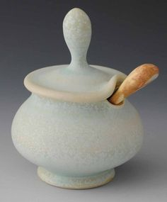 Jake Johnson  |  Jar with Spoon. reminds me of the sugar bowl in Beauty & the Beast - Disney film ;-)