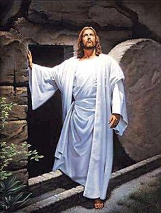 Christ overcame death when he rose from the tomb.