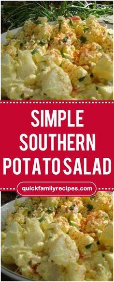 Simple Southern Potato Salad  #southern #potato #salad #foodlover #homecooking #cooking #cookingtips