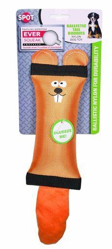 Ethical Products Spot Tail Buddies Beaver 13 inch Dog Toy Assorted Color