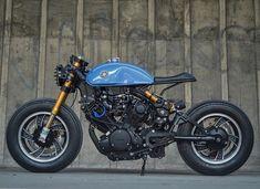 """Blue Blaster"" Yamaha xv750 cafe racer"