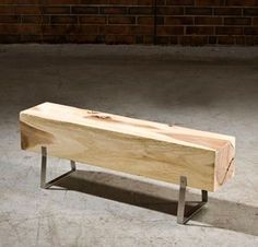 Such an understated, simple yet bold bench made from reclaimed timber.
