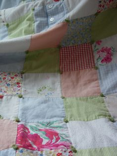baby clothes quilt: I've been planning to do this....hopefully will start this fall so I can get rid of the tubs of clothes