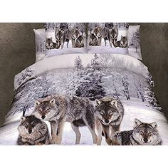 WINTER GUARDIANS Double Bed Duvet and Pillowcase Bed Linen Set Artwork by Anne Stokes