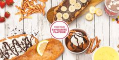 Beavertails Pastry, canadian chain of food stands with variations of fried dough and sweet toppings, hot dogs and poutine.