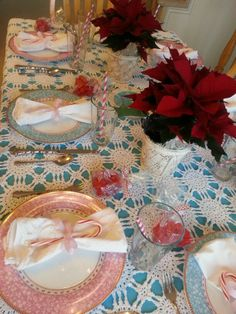 Christmas Dinner Table by Tiffany