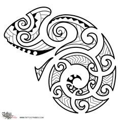 Di Camaleonte Maori Trasformazione Tattoo Tattootribescom Pictures