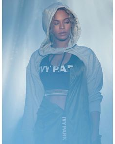 "17.9k Likes, 60 Comments - IVY PARK (@weareivypark) on Instagram: ""@beyonce behind the scenes in our khaki green jacket and classic logo top. Shop @topshop @nordstrom…"""