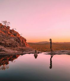 Sundown over Kakadu from the top of Gunlom Falls. 💛 The most beautiful things in life aren't things. They're people, and places. Places To Travel, Places To See, Travel Destinations, Honeymoon Inspiration, Travel Inspiration, Australian Road Trip, Roadtrip, Adventure Is Out There, Australia Travel