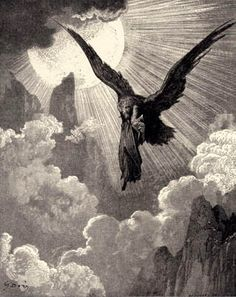 Illustration to Dante's Divine Comedy, Purgatorio by Gustave Doré. Plate 9: The Eagle Carries Dante Away