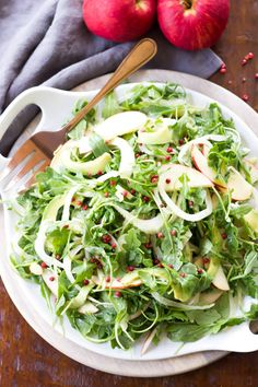 This healthy Apple, Fennel, and Avocado Salad is bright and refreshing!