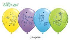 "Suzy'S Zoo Latex Balloons Baby Shower Decor 1St Birthday Celebration Easter 11"""