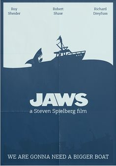 Jaws (1975) ~ Minimal Movie Poster by Sergey Tkachenko