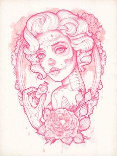 Drink Me Art Print by Satangelica / Society6