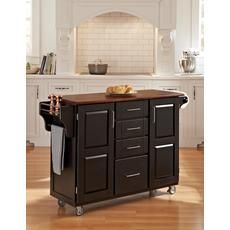 Create-a-Cart Black Finish with Cherry Top 556.00