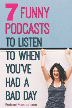 7 Funny Podcasts to Listen to (When you've had a bad day!) - Looking for something to lift your spirits? Try these funny podcasts. These are the best funny podc - Funny Podcasts, Podcasts Best, Rough Day, Having A Bad Day, Self Improvement, Self Help, Just In Case, Traveling By Yourself, Documentaries