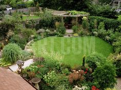 View from Above a Small Garden Photographic Print by Mark Bolton at eu.art.com