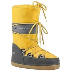 Pre-owned Marc Jacobs Moon Yellow Boots ($109) ❤ liked on Polyvore featuring shoes, boots, yellow, marc jacobs shoes, bunny shoes, pre owned shoes, marc jacobs and yellow shoes