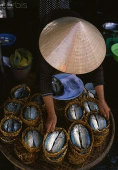 Fish market in My Tho, Vietnam