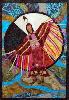 Native American Fancy Shawl Dancer, art quilt by JPGstudio2536