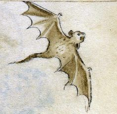 bat  Queen Mary Psalter, London 1310-1320  British Library, Royal 2 B VII, fol. 91v