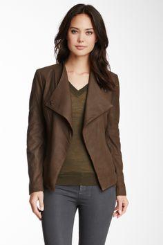 Rachel Roy - Open Front Leather Jacket. Source: hautelook.com