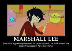 Marshall Lee Motivational Poster 2 by ~xxriverdousexx on Deviantart. YEAH MARSHALL LEE!!! WORK IT MAN!!!! ....He really should have had a line or two.....