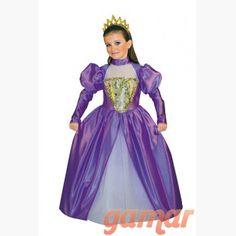 Disfraz Princesa Ines Niña. Disfraces para Niñas. Fabricación Nacional. Disfraces de Calidad. www.disfracesgamar.com